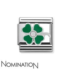 Nomination Charm Green Four Leaf Clover RRP £22