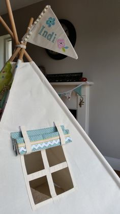 This listing is for a beautiful custom made teepee tent for your little one. A wonderful play space for your child to explore their imagination, or at times, a cosy nook for reading and dreaming. The tent is made from 100% cotton and is designed to last. All Maple and SPud teepees are completly handcrafted in Ireland. Our Owl Topper teepee is one of our most popular teepees and is often requested. The doors and accents can be in any colour you like. Whats included in this listing 1 Teepee…