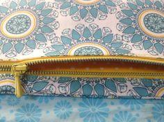 Geldbörse Portemonnaie Ornamente | Etsy Zip Around Wallet, Etsy, Light Blue