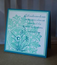 Stampin' Up Card using Large Medallion***Love the idea of  1 ink color & 2 stamps, underlayer with second generation ink. Just need a fun large stamp