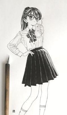 埋め込み画像 Sketch Manga, Manga Drawing, Manga Art, Drawing Sketches, Manga Anime, Art Drawings, Anime Art, Drawing Tips, Drawing Style
