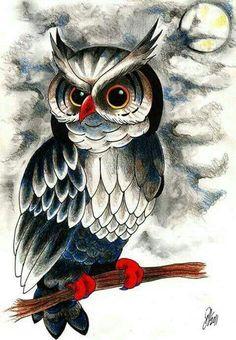 Diamond Mosaic Cross Stitch Kits Diamond Embroidery Animals Owl Diy Diamond Painting Full Square Diamond Home Decoration Owl Bird, Bird Art, Owl Artwork, Owl Illustration, Owl Tattoo Design, Owl Pictures, Owl Crafts, Cross Crafts, Beautiful Owl