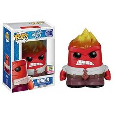 Funko Anger Flames, SDCC 2015 Exclusive, Inside Out, Divertida Mente, Disney, Funkomania