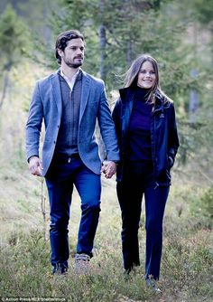 Princess Sofia and Prince Carl Philip of Sweden open a nature reserve in Sweden. September 30 2016