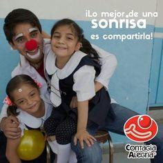 ¡Lo mejor de una sonrisa es compartirla! #SoyClown #FuerzaClown #conelcorazónenlanariz #ContagiaAlegría #CA