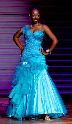 Dress made from Anel Botha