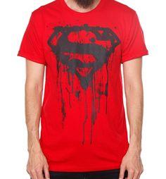 Playera  Superman Spilled Roja  KingMonster   220.00 b67f24a3e6482