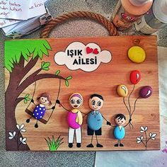 No photo description. Stone Crafts, Rock Crafts, Fall Crafts, Clay Crafts For Kids, Diy And Crafts, Canvas Painting Designs, Clay Wall Art, Painted Rocks Craft, Clay Art Projects