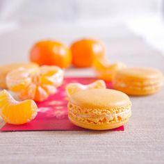 Pinspire - Clementine Macarons with Orange Buttercream   Recipe: http://thepleasuremonger.wordpress.com/2011/01/28/happy-chinese-new-year/