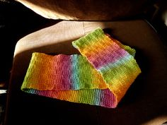 Tunisian Rainbow Cowl by Lynn Sibley