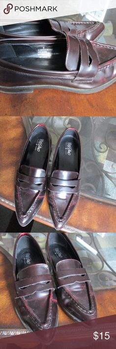 mahogany loafers Sharp dressy loafers for any chic outfit! Mossimo Supply Co. Shoes Flats & Loafers