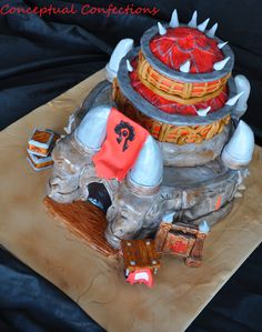 WoW Horde auction house cake