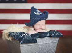Newborn Photography | Military Photography | Navy |  Baby Sailor | © Ashley McKelvey Photography