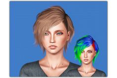 "ifcasims: "" HA2D - Hair 01 ""Cas thumbnail Converted by plumblobs Hair texture by Shockshame (but I did it a little smoother) "" DOWNLOAD → SFS ""Does anybody know wcif this hair for males?? Someone want them but I'm lazy I can't find it. "" """