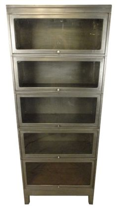 Industrial Metal Five Stack Barrister Bookcase | VandM.com