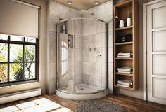 corner shower...so pretty