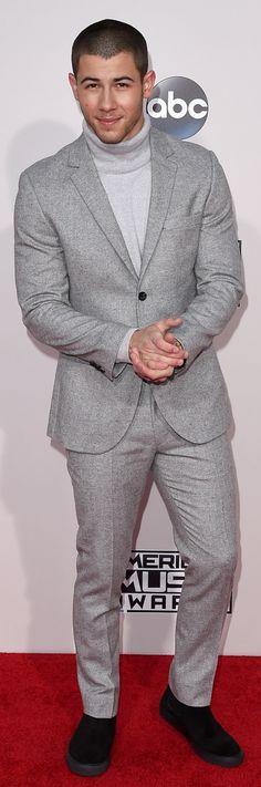 Nick Jonas at the American Music Awards (Photo: Jason Merritt/Getty Images)