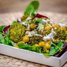 salat-pecene-brokolice-cizrnou/ Cobb Salad, Broccoli, Vegetables, Food, Vegetable Recipes, Eten, Veggie Food, Meals, Veggies