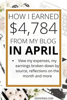 April 2017 Income Report. Check out my April 2017 Income report to see how much money I earned blogging through affiliate marketing, digital product sales, and more.