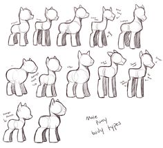 my little pony sitting poses - Google Search