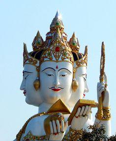 4 faces of Bramha. Chachongsao. Thailand