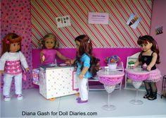 LOVE the ice cream shop tables!