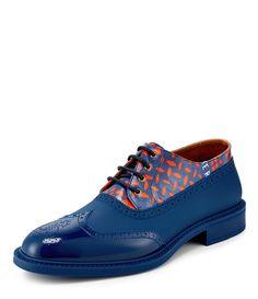 VIVIENNE WESTWOOD Blue Lace Up Brogue. #viviennewestwood #shoes #