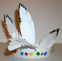 Activite de bricolage pour un anniversaire chez les Indiens: bandeau d'indien #indians #party #craft