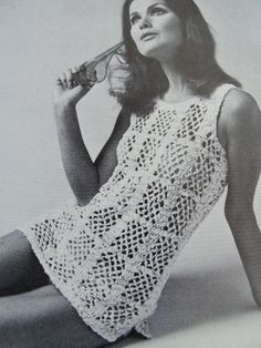 INSTANT PDF PATTERN 1960s Mod Pretty Crocheted Lace Beach Cover Up Swimsuit Cover Vintage Crochet Pattern Easy To Make vintagepatterncopies 3.00 USD October 16 2015 at 03:08PM
