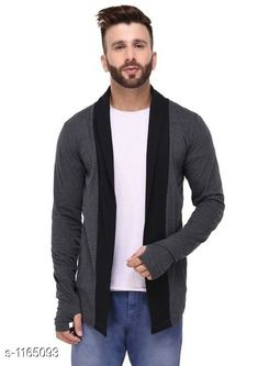 Cardigan Full Sleeve Cotton Cardigan  *Fabric* Cotton  *Sleeves* Full Sleeves Are Included  *Chest Size* S - 36 in, M - 38 in, L - 40 in, XL - 42 in, XXL - 44 in  *Length* Up to 28 in  *Type* Stitched  *Description* It Has 1 Piece of Men's Cardigan  *Pattern* Solid  *Sizes Available* S, M, L, XL, XXL *   Catalog Rating: ★4 (355)  Catalog Name: Full Sleeve Cotton Cardigan CatalogID_145277 C70-SC1401 Code: 572-1165093-