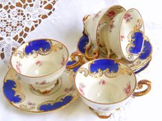Vintage Espresso Cups and Saucers Demitasse Espresso Set