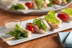 Caesar Salad Bites - Caesar Salad on a Stick! Gluten-Free, Vegetarian, Low Carb - recipe by Christy Brissette, registered dietitian nutritionist and president of 80 Twenty Nutrition in Toronto and California