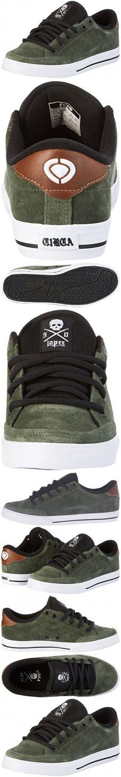 C1RCA Men's AL50 Skateboarding Shoe, Olive/Black/White, 11 M US