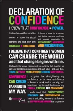 Declaration of Confidence!