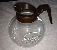 Vintage Commercial Schott Farmer Brothers Glass Coffee Pot Replacement Fits Bunn