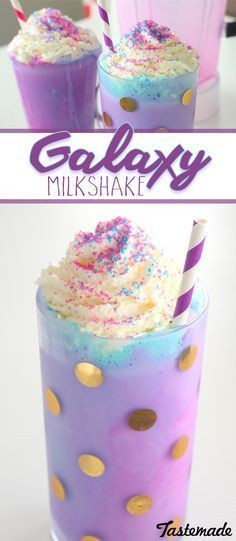 A pretty, swirly vanilla milkshake! A super fun shake to make with the kids that's totally out of this world