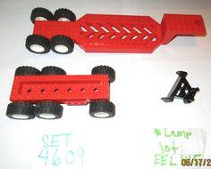 $17.50 #ebay #legocity #legotown #lego #legos #legotrains #tractor #tractortrailer LEGO Set 4609 Large Red Vehicle Car Trailer Chasis Transportation Split Level  #LEGO