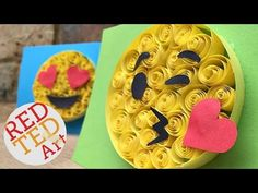 Easy Paper Quilling Emoji Cards - Red Ted Art's Blog