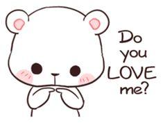Bear Couple : Milk & Mocha by Shortie sticker Gif Lindos, Memes Lindos, Cute Bear Drawings, Kawaii Drawings, Cute Love Gif, Cute Cat Gif, Draw So Cute, Gif Mignon, Cartoon Mignon
