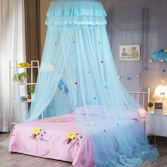 Children Elegant Tulle Bed Dome Bed Netting Canopy Circular Pink Round Dome Bedding Mosquito Net