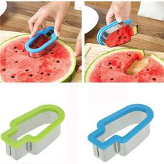 Creative Watermelon Slicer Ice Cream Popsicle Shape Melon Cutter Mold Tool popsicle shape Water melon cutting tool drop ship