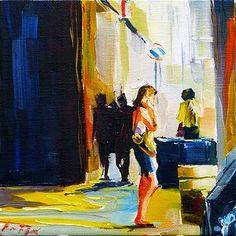 """Daily Paintworks - """"Auf der Straße von Bologna"""" - Original Fine Art for Sale - © Jurij Frey"""