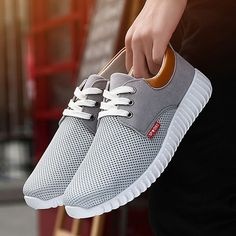Men Mesh Fabric Breathable Shock Absorption Sneakers Sport Running Shoes is fashionable and cheap, buy best sneakers for plantar fasciitis for family-NewChic. Shoes Ads, Men's Shoes, Dress Shoes, Shoes Sneakers, Jordans Sneakers, Oxford Sneakers, Shoes Sport, Boat Shoes, Mens Fashion Shoes