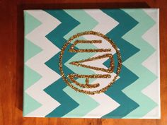 Searched chevron crafts and this is the first one that came up..chevron is meant to be :) Adorable canvas!