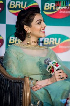 Karthi Sivakumar & Kajal Aggarwal at a Promotional Event for Bru | Silverscreen.in