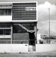 Fábrica Kores, Lisboa, 1955. Foto de Cisneiros de Faria. Arq. Bento d´Almeida & Victor Palla