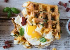 Chorizo, Cheddar and Spinach Waffles - The Food Gays