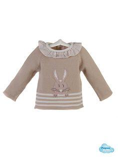 detalle del jersey con conejito  http://www.pequesybebes.es/conjuntos-bebe-nino-nina-invierno/482-conjunto-bebe-jersey-polaina-capota-conejito.html