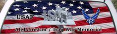 US Air Force Afghanistan Iraq War Memorial rear window mural.