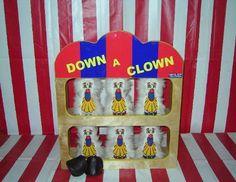 Mini Down a Clown Carnival Game